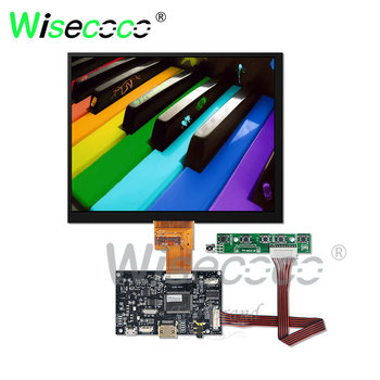 wisecoco 8 inch LCD 1024*768 IPS screen with HDMI LVDs 40 pins driver board  HJ080IA-01E for laptop mini pc
