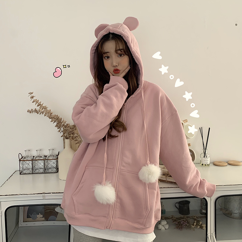 Women's Sweatshirts Japanese Harajuku Ulzzang Sweet And Lovely Girl Sweatshirt Female Korean Kawaii Cute Clothing For Women