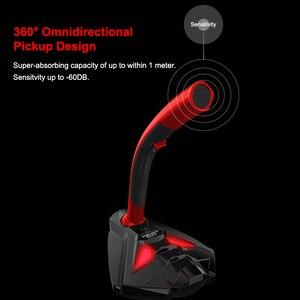 Image 5 - Microfono con cavo Con Il Telefono Del Basamento Da Tavolo Stereo PC Gaming microfono Studio di Gioco 360 ° microfono USB Professionale Doppio Microfono