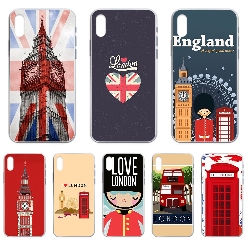 Elizabeth Tower England I love london Transparent Phone Case For iphone 4 4S 5 5C 5S 6 6S PLUS 7 8 X XR XS 11 PRO SE 2020 MAX