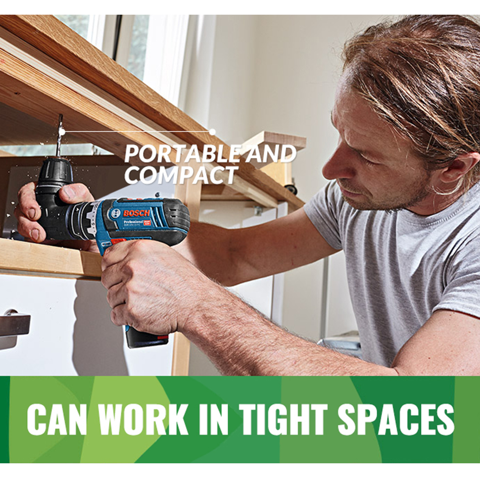 Bosch Drill With Screwdriver Lithium Battery GSR12V Ligh Power Drilling LED Ion Driver Cordless Machine Wireless Electric Drill