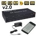 HDMI 2 0 матрица 4X4 HDMI матрица 4X4 HDMI сплиттер коммутатор 4 в 4 матрицы с RS232 и EDID управлением HDCP 2 2 4KX2K/60HZ HDR