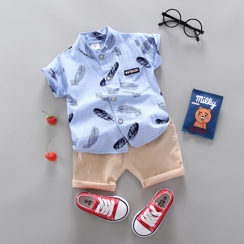 Boy Clothing Casual  Baby Girl's Summer Clothes   Set Sports shirt+ Shorts Suits  Clothes Cotton products Kids clothes 3