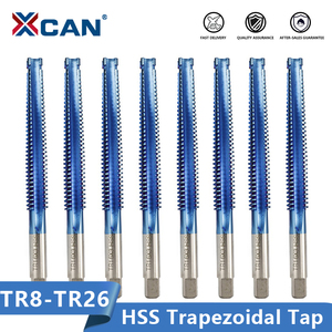 XCAN Thread Tap TR8 10 12 14 16 20 22 24 26 Left/Right Hand Screw Plug Tap HSS Trapezoidal Tap Drill Machine Threading Tools