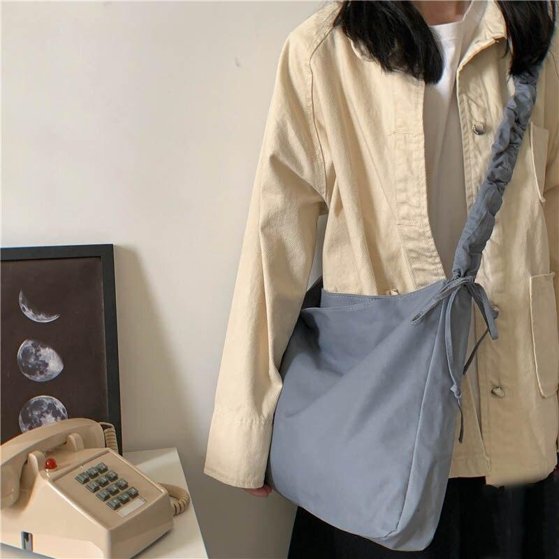 Mensageiro saco de lona japonês ins harajuku