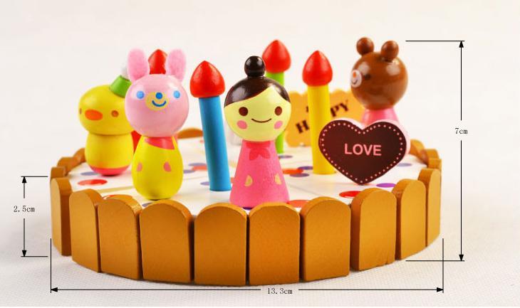Klasične kuhinjske igrače Set modeli gradbeni kompleti Leseni okras - Igra igranja vlog - Fotografija 3