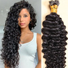Curly Flat Tip Hair Extensions Hot Fusion Keratin Hair Pre-bonded Capsules Machine Made Human Hair 100 strands Color 30#/99j