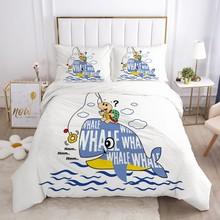 Cartoon pościel dla chłopców zestaw dla dzieci łóżeczko dziecięce kołdra zestaw poszewek poszewka na poduszkę pojedyncze 140*200 delfin tanie tanio Olrynns Brak Zestawy poszew na kołdry mikrofibra 1 0 m (3 3 stóp) 1 35 m (4 5 stóp) 1 5 m (5 stóp) 1 2 m (4 stóp) 1 8 m (6 stóp)
