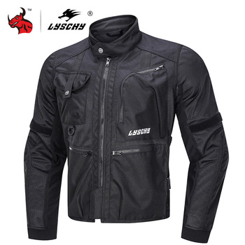 LYSCHY Motorcycle Jacket Summer Men Breathable Mesh Moto Jacket Motorcycle Racing Jackets Protector Moto Protective Gear motorcycle jacket men summer moto protective gear jacket men racing reflective oxford clothing motorbike jackets