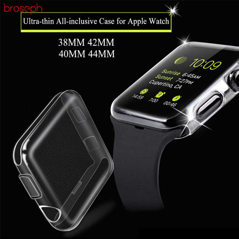 Soft TPU Case for Apple Watch Series 1 2 3 42mm 38mm Ultra-thin Full Cover Protective Case Cover for iwatch 4 40mm 44mm