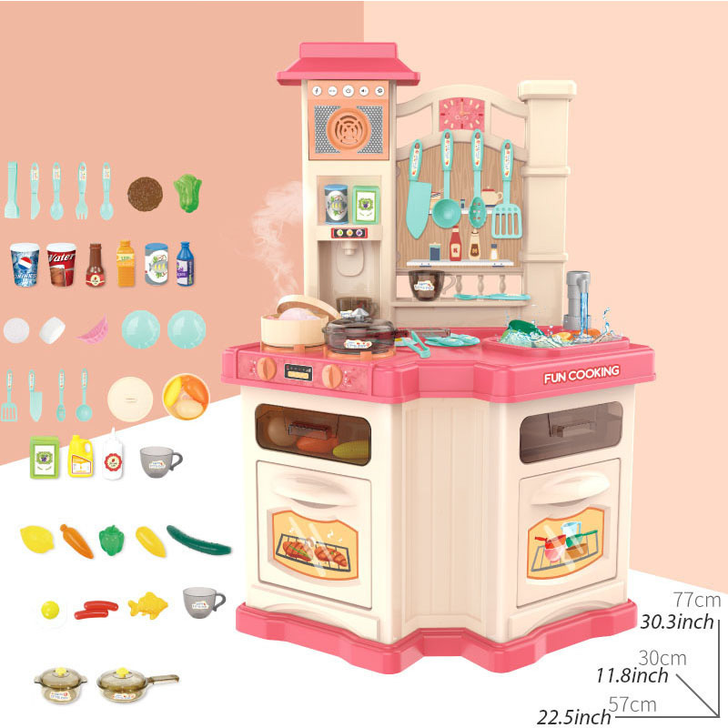 40PCS Kids Kitchen Toys Set Children Cooking Toy Kitchen Pretend Play Simulation Kitchen Girls Toy Gift