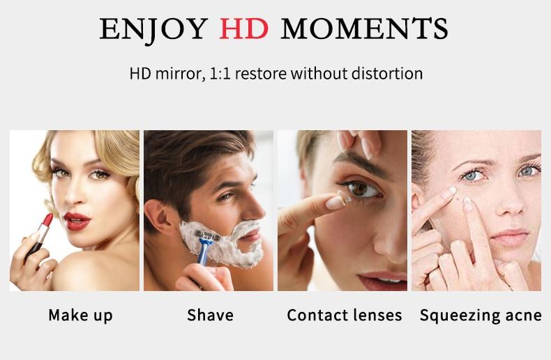 10X LED Mirror Makeup Mirror Flexible Mirror illuminated Magnifying Vanity Mirrors with Light Make up Miroir Bathroom Mirrors
