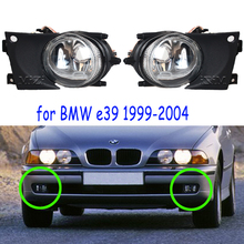 цена на for BMW E39 Fog Lights 1999-2004 fog lamps fog light headlight headlights 1 pair front bumper foglights fog lamp