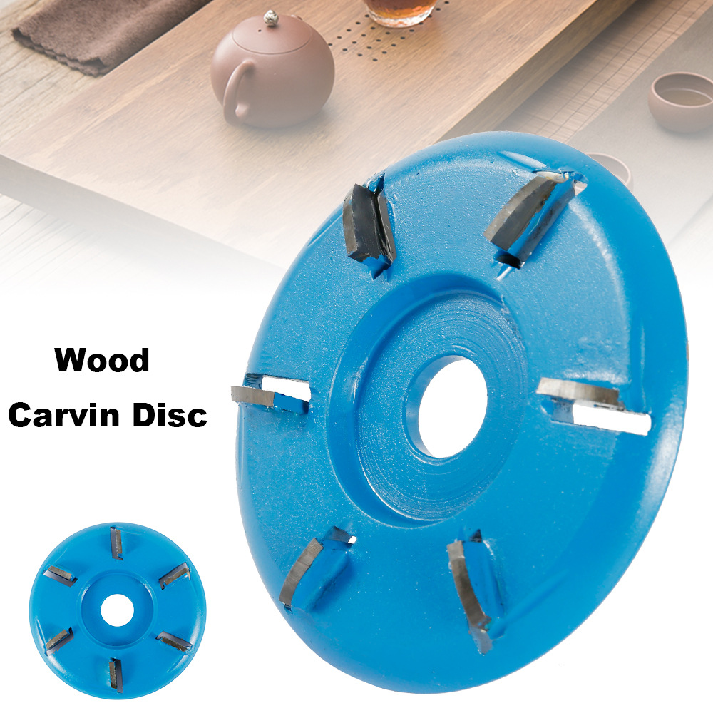 Polishing Accessories Diameter 16mm Bore Power Wood Carving Cutting Disc 3/6 Teeth 90mm Angle Grinder Tool Milling Accessories