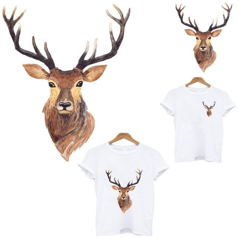 iron on <font><b>patches</b></font> clothing applications Beautiful <font><b>deer</b></font> <font><b>patch</b></font> stickers for clothes stripe iron-on transfers for clothing applique image