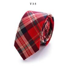 New Classic Cotton Mens Ties Design Narrow Neckties 6cm Slim Lattice for Men Formal Business Wedding Party Gravata