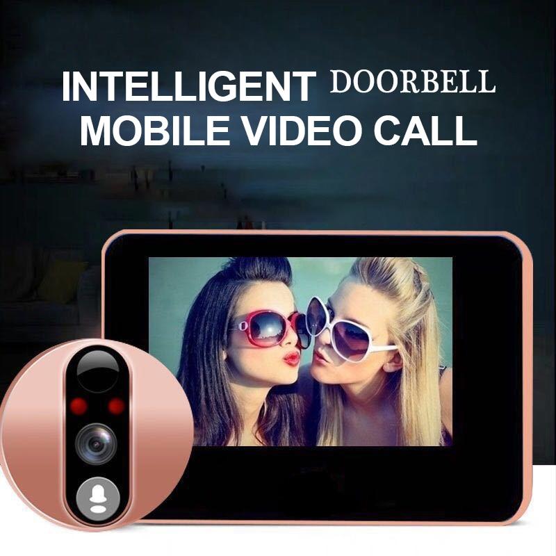 Купить с кэшбэком New Peephole Wifi HD Viewer DoorBell Infrared Night Security Wireless Camera Intercom Doorbell Support Phone Remote
