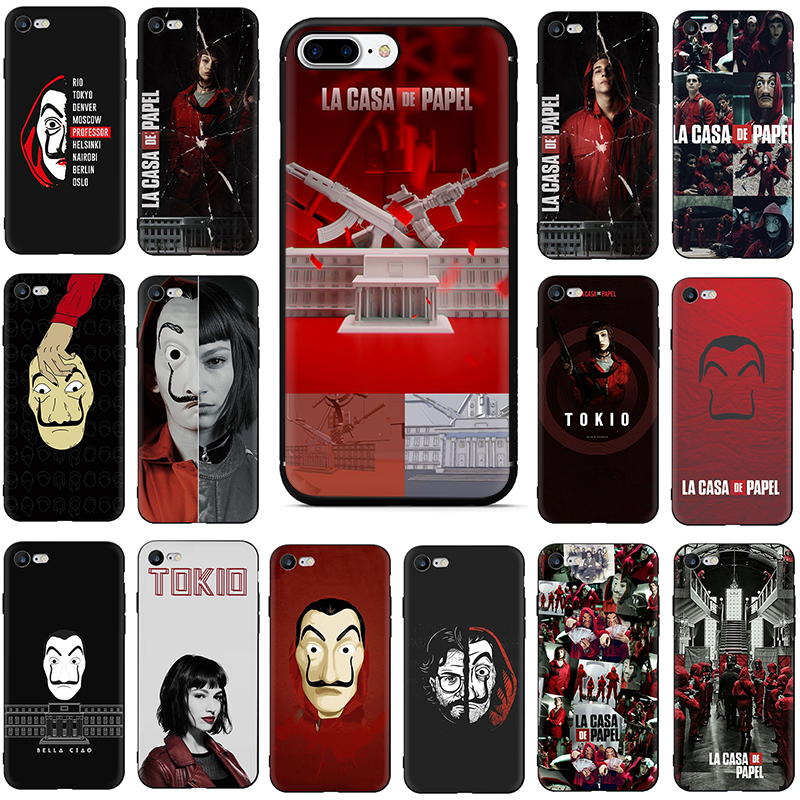 TV series case for iphone 6 6S 7 8 PLUS Money Heist House Paper phone cover cases for iphone X XR XS MAX fundas soft tpu coque image