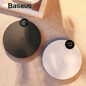 Baseus LED Digital Display Wireless Charger for iPhone X XR XS Max 8 Qi Wireless Fast Charger for Samsung Galaxy S10 Huawei P30 1