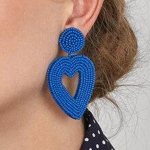Beads Earrings For Women Earings Fashion Jewelry Vintage With Stones Bohemian Long Dangle Acrylic Boho Earrings