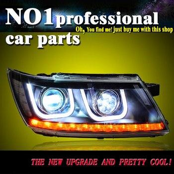 car accessories for Dodge JCUV Headlights 2008-2015 New Journey LED Headlight DRL Bi Xenon Lens High Low Beam Parking FogLam