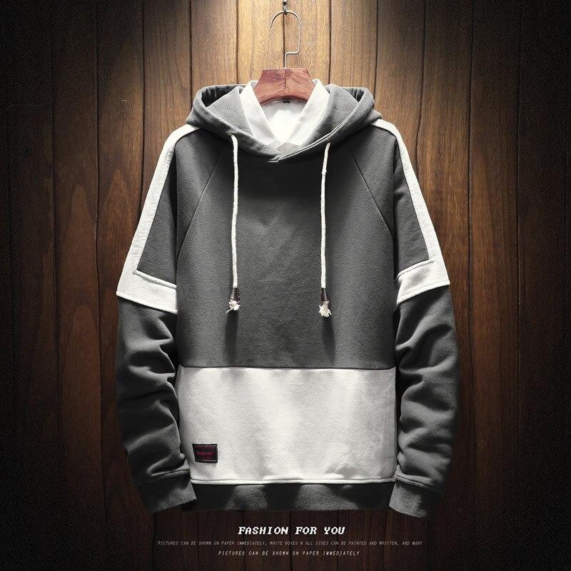 FMZXG 2020 Autumn Winter New Men's Velvet Sweater Fashion Trend Fit Winter Dress Plus Velvet Sweater 2