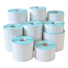 Shipping Label Adhesive Thermal Label Sticker Paper Supermarket Price Blank Barcode Label Direct Print Waterproof Print Supplies