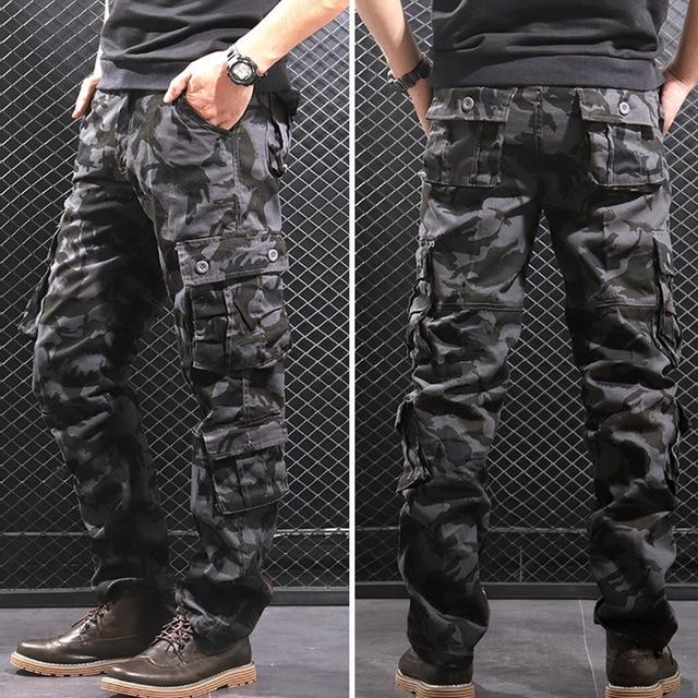 Men Fashion Streetwear  Camouflage Jogger  1