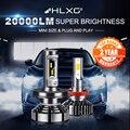 H7 светодиодный лампы H4 светодиодный лампы H11 светодиодный автомобильный светильник 12V 9005 9006 светодиодный H8 H9 6000 К авто фары 4300k 5000K 8000K 20000LM HLXG 2 шт. - фото