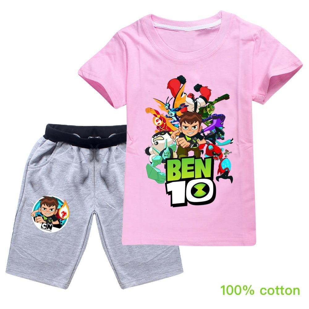 ben10 2019 Summer autumn Boys Pajamas Suits Short Sleeve Kids Pijama Children Pyjama Sets Boys Sleepwear bottom Clothing Unisex 4
