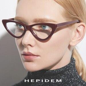 Image 3 - Acetat Optische Gläser Rahmen Frauen Marke Designer Cat Eye Brillen Neue Fors Damen Cateye Spektakel Brillen