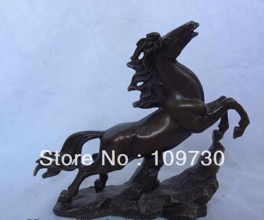 Bir 00658 Hoàng Đạo Trung Quốc Đồng Động Vật Điêu Khắc Jixiang Cải Bay Ngựa Lên Chân Tượng