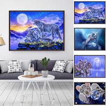 30x40cm Tiger Animal Cross Stitch Craft DIY Diamond Painting Embroidery Crosse Home Room Wall Decor Gift