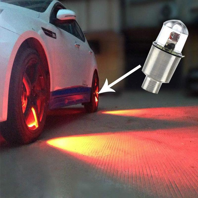 Universal Waterproof Motorcycle Light Wheel Tire Decoration Bike Car Motorcycle Wheel Tire Tyre Valve Cap LED Light Lamp