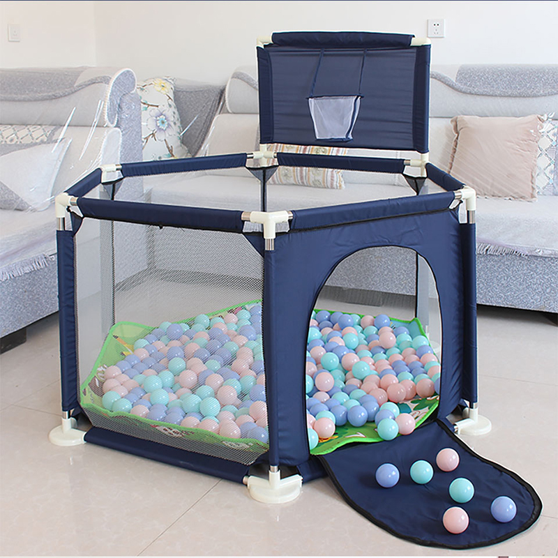 Stable Safety Baby Playpen Balls Pool For Children Activity Iron Playpen Fence Furnishing For 0-6 Years Kids Tent From Russian