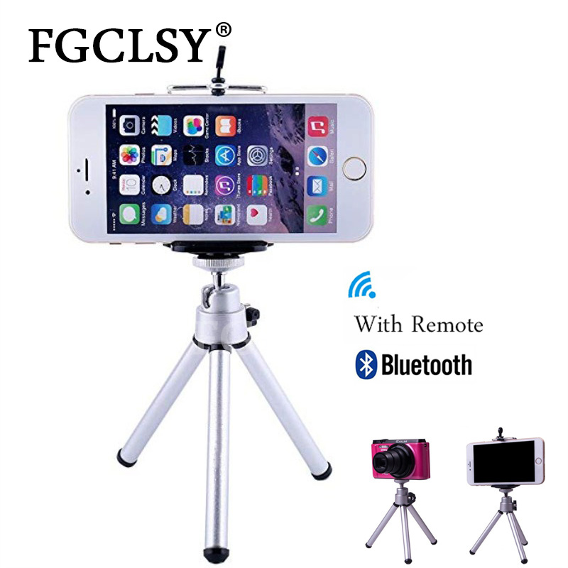 FGCLSY Can Stretched Mini Tripod With Bluetooth Remote Shutter For IPhone Mini Camera Tripod Phone Holder Clip Stand