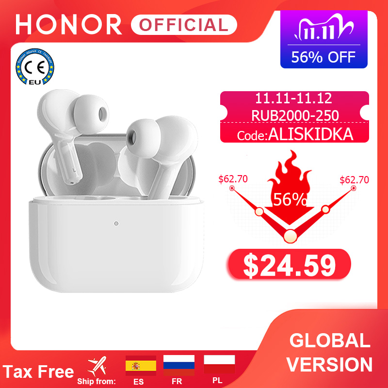 Global Version Honor Choice True Wireless Earbuds TWS Wireless Bluetooth Earphone Dual-microphone Noise Reduction Bluetooth 5 0
