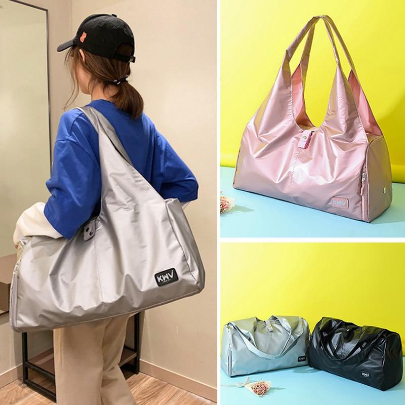 Women Nylon Travelling Bags Large Capacity Handbags Luggage Duffle Bag For Female Ladies Travelling Bags Woman Handbags in Travel Bags from Luggage Bags