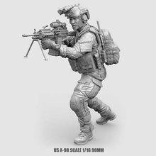 Kits de figuras de soldado de resina de Estados Unidos, modelo de fuerzas especiales, A-98 incoloro y autoensamblado, 1/16