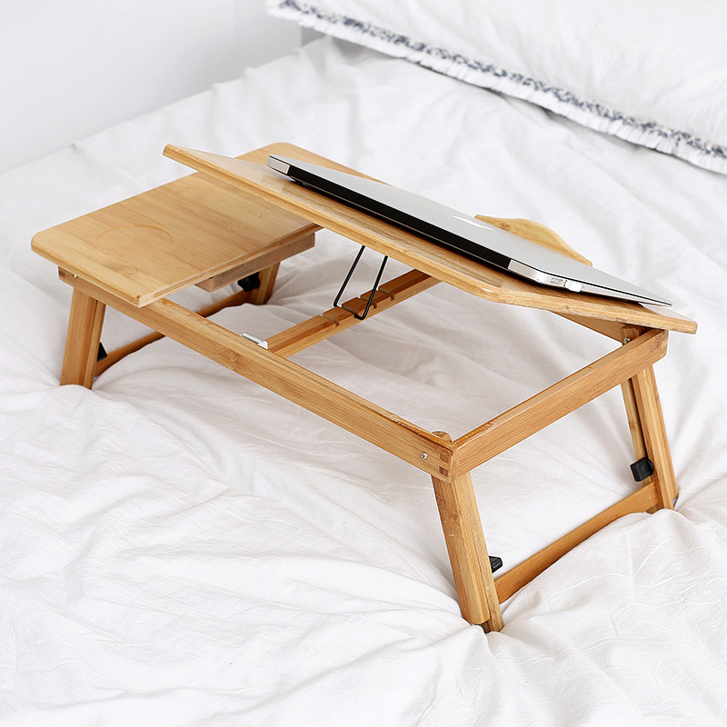 Adjustable Bamboo Computer Stand Studying Table Laptop Desk Notebook Desk Laptop Table For Bed Sofa