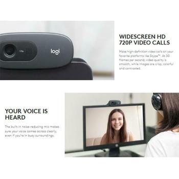 Original Logitech C270 HD Vid 720P Webcam Built-in Micphone USB2.0 Mini Computer Camera for PC Laptop Web Cam 3