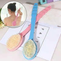 3 Colors Long Handle Ultra Soft Bath Shower Brush Skin Massage Back Rubbing Brush Health Care Body Accessories Rubbing Tool