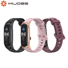 Strap For Mi Band 5 6 Global Wristband Miband 5 Silicone Band Bracelet for Mi 3 4 5 6 Silica Gel Pulseira Wine Red Pink Strap