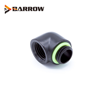 BARROW Gold Black Silver G1/4'' thread 90 degree Fitting Adapter water cooling Adaptors water cooling fitting TDWT90-B01 6pcs lot g1 4 thread barbed fitting connector for computer case water cooling barb fitting