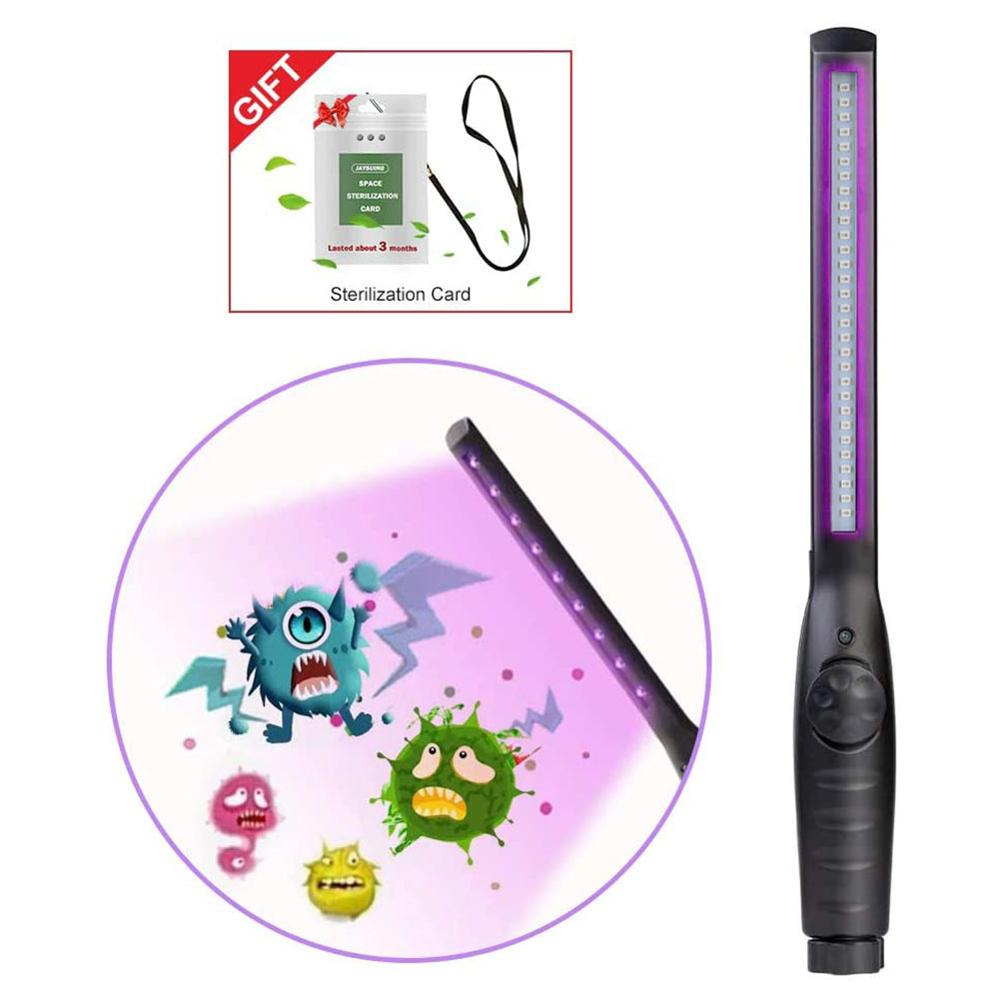 30 LEDs Rechargeable UV Sterilizer Lamp Home Portable Ultraviolet Disinfection Bactericidal Lamp UVC Germicidal Lamp Sterilizer
