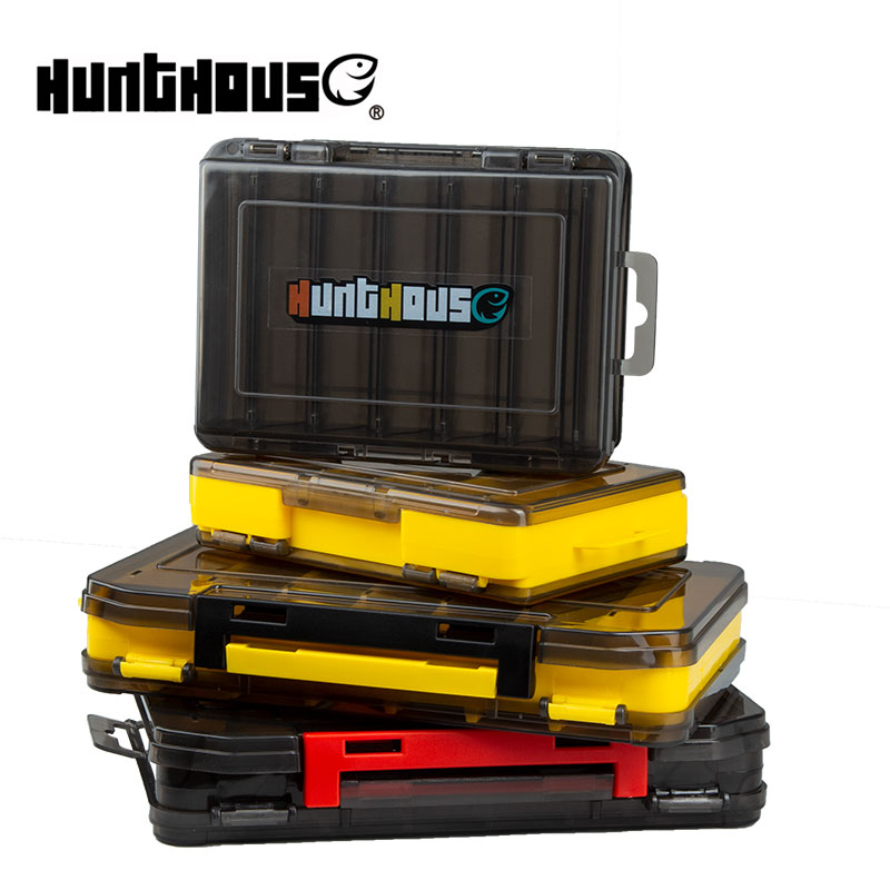 Hunthouse Double Sided High Strength Fishing Tackle Box Fishing Accessories Lure Hook Boxes Plastic Bait Equipment