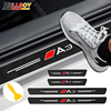 3D炭素繊維車体のドア敷居プロテクターデカールステッカーアウディA1 A3 8v 8 1080p 8L S3 RS3 sline A4 A5 A6 A7 A8 Q5アクセサリー