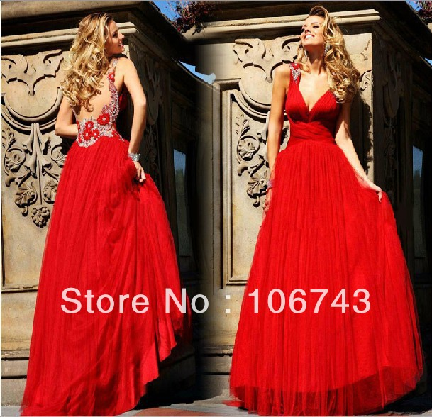 2018 New Design Red Flowers Vestido De Noiva Sexy Backless Elegant Beaded Party Prom Evening Gown Mother Of The Bride Dresses