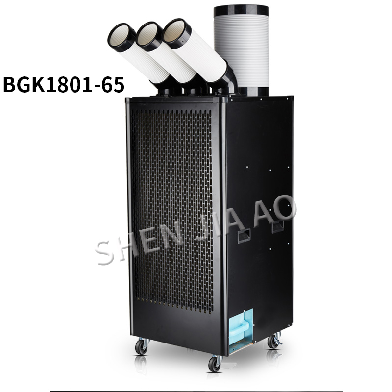 220V Air Conditioner Industrial Mobile Air Conditioner Compressor Three Air Outlet Air Cooler Single Cold Type Integrated 3KW