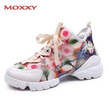 2019 New Colorful Flower Sneakers Women Shoes Fashion Dames Casual Platform White Black Comfort Basket Femme
